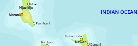 Comoros Islands and Urban Localities