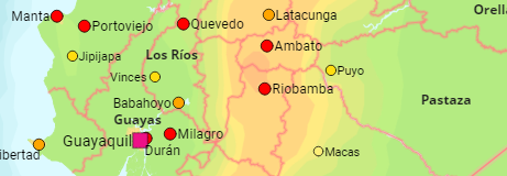 Ecuador Provinces and Cities
