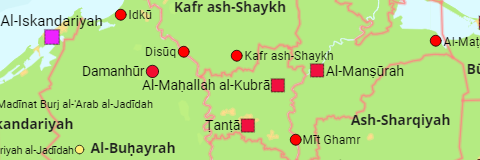 Egypt Governorates and Cities
