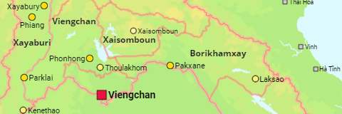 Laos Cities and Provinces