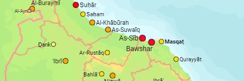 Oman Governorates and Cities