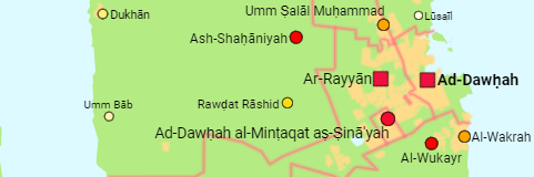 Qatar Municipalities and Cities