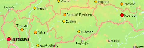 Slovakia Major Cities