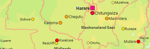 Zimbabwe Cities