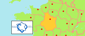 Centre - Val de Loire (France) Map
