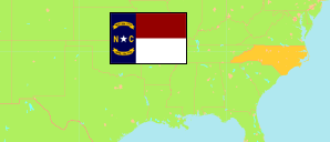 North Carolina (USA) Map