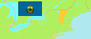 Vermont (USA) Map