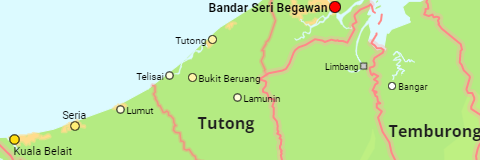 Brunei Districts and Places